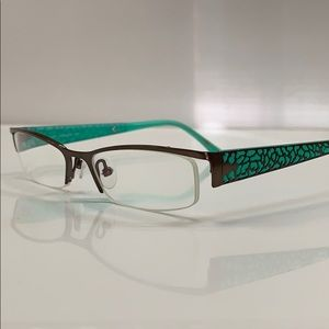 Beausoleil Paris Eyeglass Frame Bronze/Seafoam